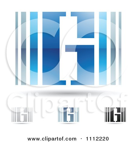 Clipart Abstract Letter G Icons With Shadows 3 - Royalty Free Vector Illustration by cidepix