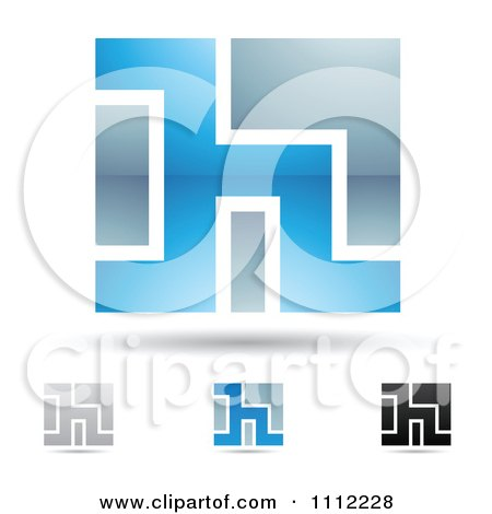 Clipart Abstract Letter H Icons With Shadows 5 - Royalty Free Vector Illustration by cidepix