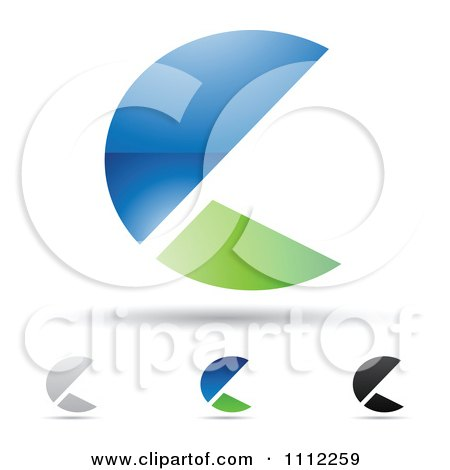 Clipart Abstract Letter C Icons With Shadows 9 - Royalty Free Vector Illustration by cidepix