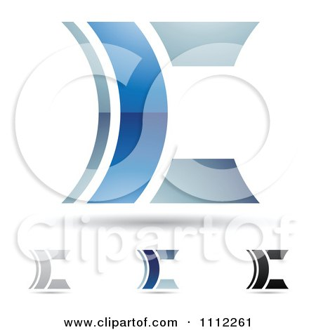 Clipart Abstract Letter C Icons With Shadows 8 - Royalty Free Vector Illustration by cidepix