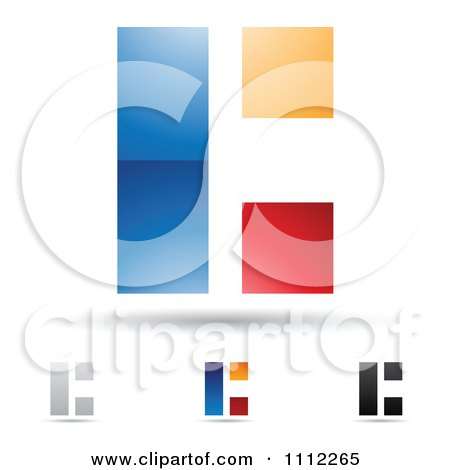 Clipart Abstract Letter C Icons With Shadows 1 - Royalty Free Vector Illustration by cidepix