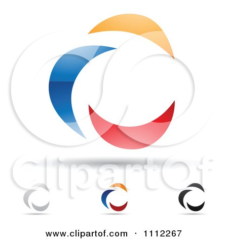 Clipart Abstract Letter C Icons With Shadows 3 - Royalty Free Vector Illustration by cidepix