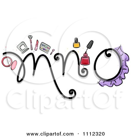 Clipart Feminine Alphabet Letters M N And O - Royalty Free Vector Illustration by BNP Design Studio