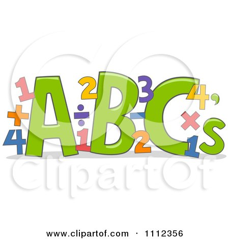abc letters with math equations posters art prints