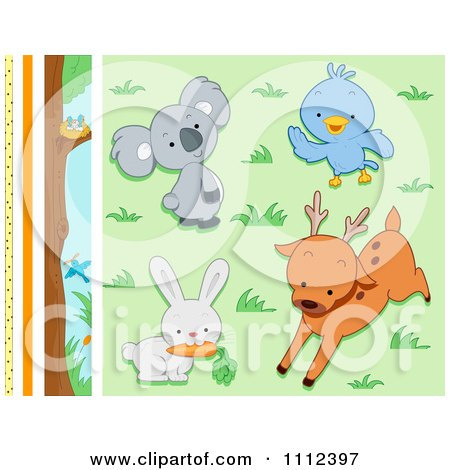 Clipart Cute Wild Animal Design Elements - Royalty Free Vector Illustration by BNP Design Studio