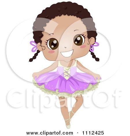 Cute Happy African American Girl In A Ballet Tutu Posters, Art Prints