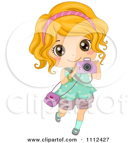 Girl Picture Clipart Clipart Cute Happy Blond Girl