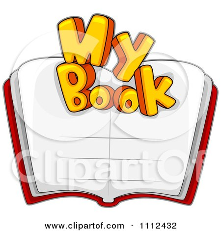 Clipart My Book Text Over An Open Book - Royalty Free Vector Illustration by BNP Design Studio