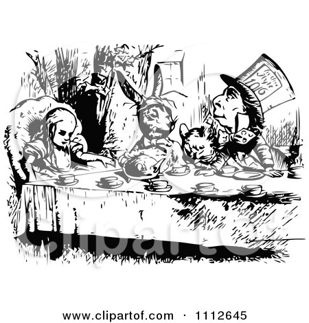 Alice At A Tea Party In Wonderland Posters, Art Prints