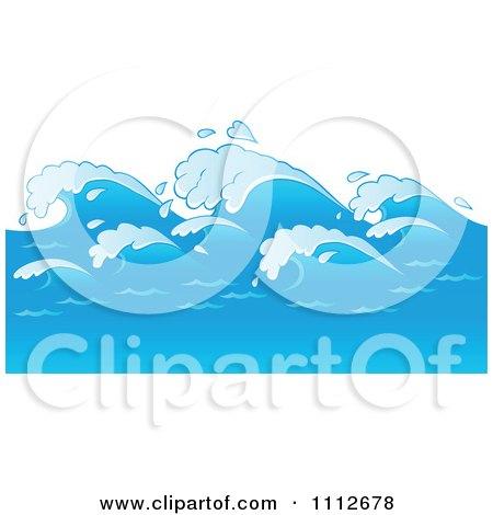 Clipart Blue Ocean Waves - Royalty Free Vector Illustration by visekart