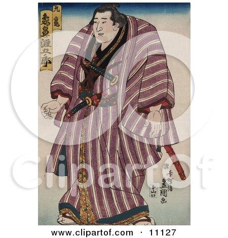 Zogahana Nadagoro, Rikishi, Sumo Wrestler Clipart Picture by JVPD