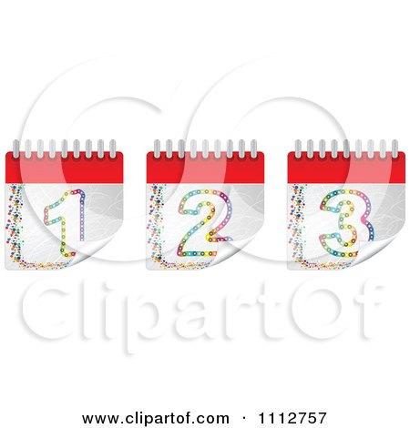 Clipart Colorful Peeling Calendar Pages - Royalty Free Vector Illustration by Andrei Marincas