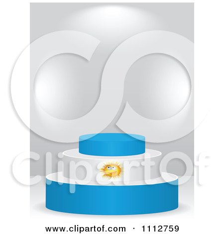 Clipart 3d Argentine Flag Podium On A Gray Background - Royalty Free Vector Illustration by Andrei Marincas