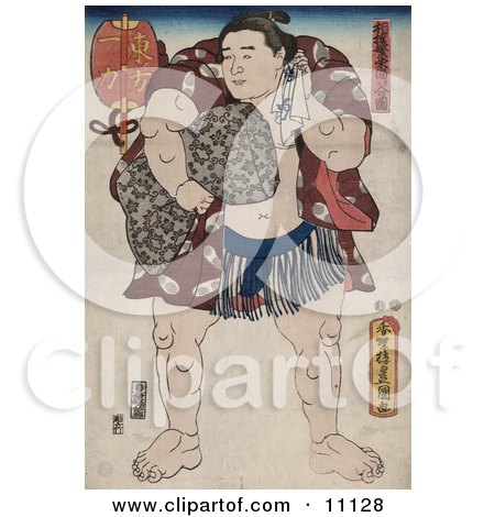 Ichiriki, the Sumo Wrestler Clipart Picture by JVPD
