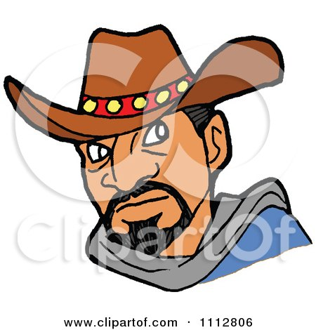 Clipart Tough Cowboy - Royalty Free Vector Illustration by LaffToon
