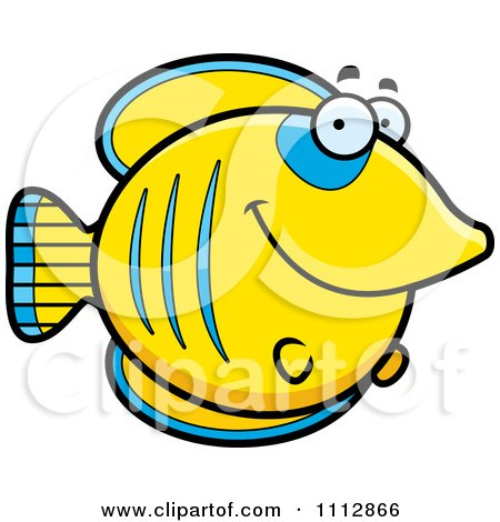 Clipart Happy Smiling Butterflyfish - Royalty Free Vector Illustration by Cory Thoman