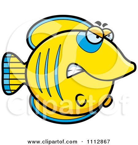 Clipart Angry Butterflyfish - Royalty Free Vector Illustration by Cory Thoman