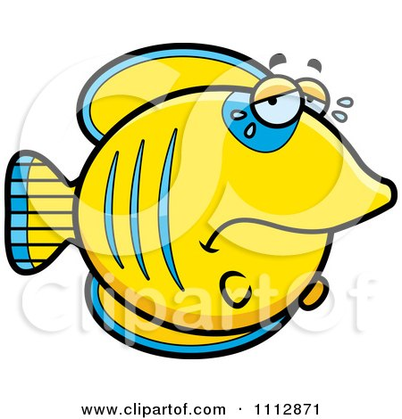 Clipart Crying Sad Butterflyfish - Royalty Free Vector Illustration by Cory Thoman