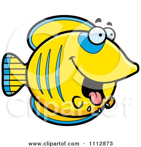 Clipart Drooling Hungry Butterflyfish - Royalty Free Vector Illustration by Cory Thoman