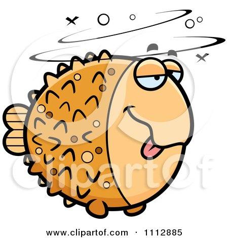 Clipart Drunk Blowfish - Royalty Free Vector Illustration by Cory Thoman