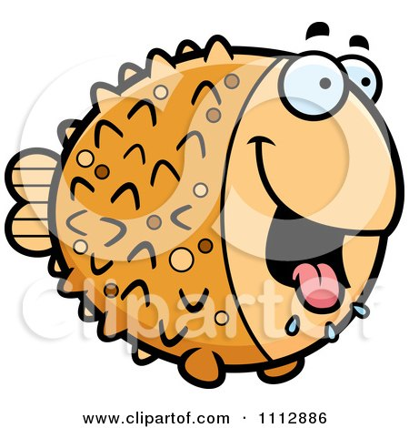 Clipart Drooling Hungry Blowfish - Royalty Free Vector Illustration by Cory Thoman