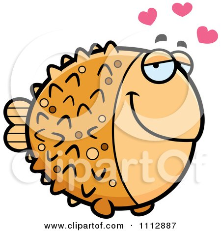 Clipart Blowfish In Love - Royalty Free Vector Illustration by Cory Thoman