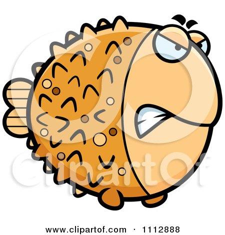 Clipart Angry Blowfish - Royalty Free Vector Illustration by Cory Thoman