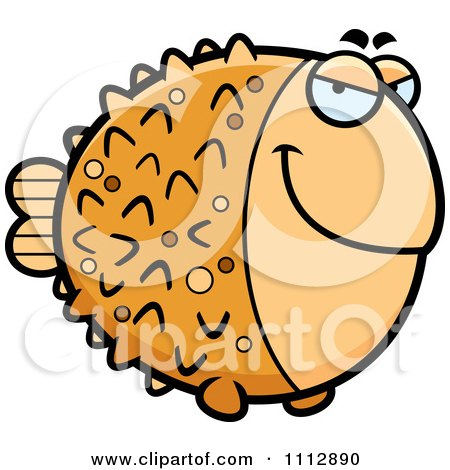 Clipart Sly Blowfish - Royalty Free Vector Illustration by Cory Thoman