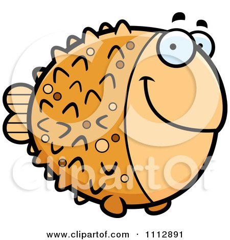 Clipart Happy Blowfish - Royalty Free Vector Illustration by Cory Thoman