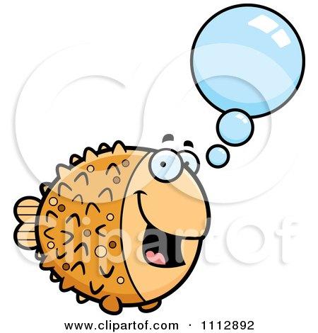 Clipart Talking Blowfish - Royalty Free Vector Illustration by Cory Thoman