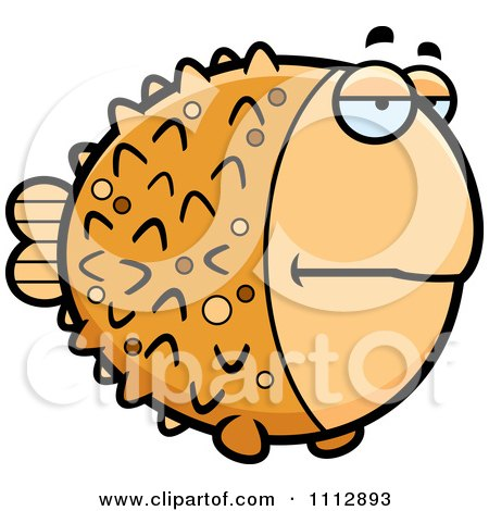 Clipart Bored Blowfish - Royalty Free Vector Illustration by Cory Thoman