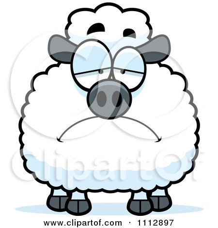 Clipart Depressed Sheep - Royalty Free Vector Illustration by Cory Thoman