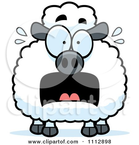 Clipart Frightened Sheep - Royalty Free Vector Illustration by Cory Thoman