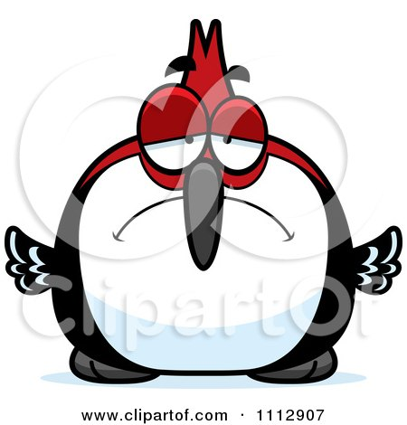 Clipart Depressed Woodpecker Bird - Royalty Free Vector Illustration by Cory Thoman