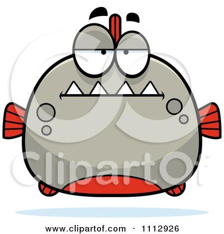 Clipart Bored Piranha Fish - Royalty Free Vector Illustration by Cory Thoman
