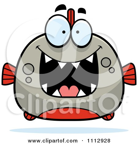 Clipart Excited Piranha Fish - Royalty Free Vector Illustration by Cory Thoman