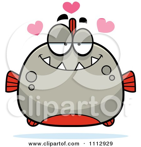 Clipart Piranha Fish In Love - Royalty Free Vector Illustration by Cory Thoman