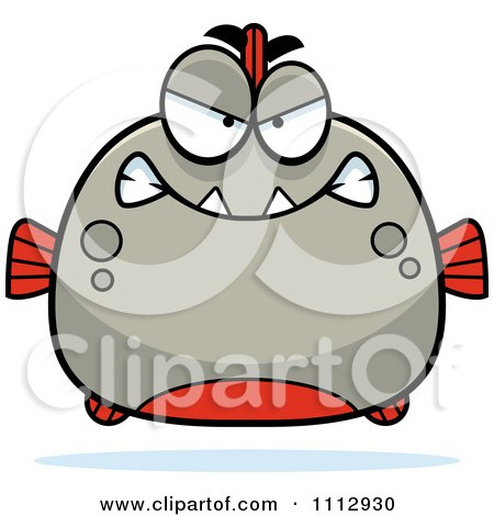 Clipart Angry Piranha Fish - Royalty Free Vector Illustration by Cory Thoman