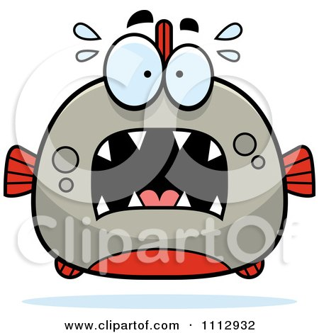 Clipart Frightened Piranha Fish - Royalty Free Vector Illustration by Cory Thoman