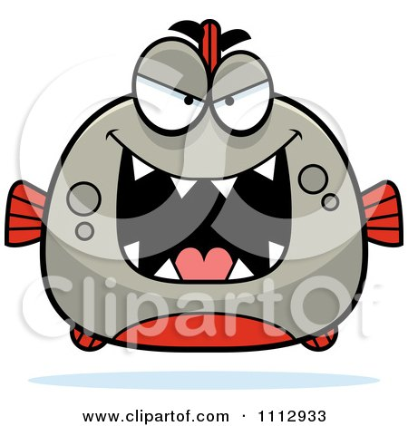 Clipart Sly Piranha Fish - Royalty Free Vector Illustration by Cory Thoman