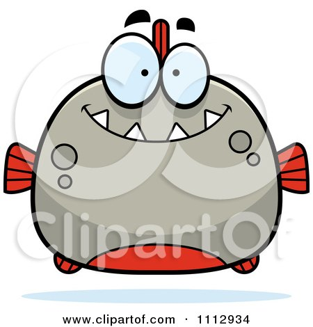 Clipart Happy Smiling Piranha Fish - Royalty Free Vector Illustration by Cory Thoman