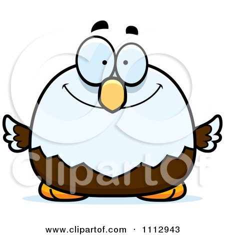 Clipart Happy Smiling Bald Eagle - Royalty Free Vector Illustration by Cory Thoman