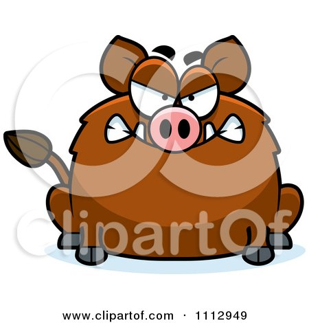 Clipart Angry Boar - Royalty Free Vector Illustration by Cory Thoman