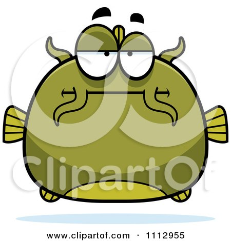 Clipart Bored Green Catfish - Royalty Free Vector Illustration by Cory Thoman