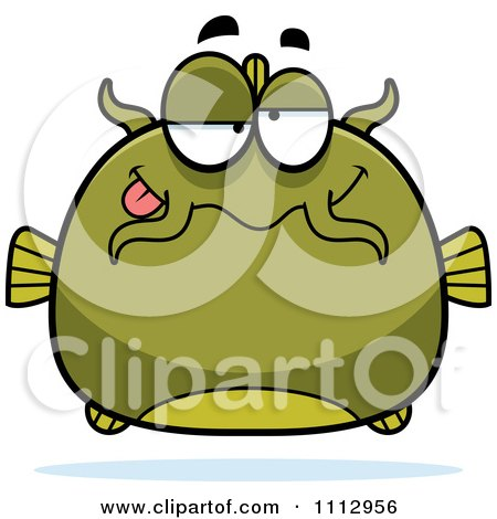 Clipart Dumb Green Catfish - Royalty Free Vector Illustration by Cory Thoman