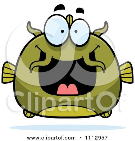 Clipart Excited Green Catfish - Royalty Free Vector Illustration by Cory Thoman