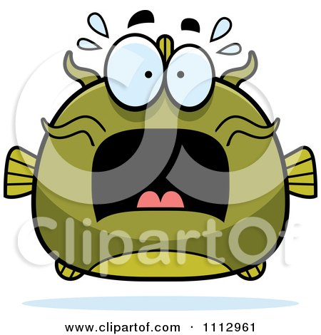 Clipart Frightened Green Catfish - Royalty Free Vector Illustration by Cory Thoman