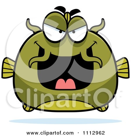 Clipart Sly Green Catfish - Royalty Free Vector Illustration by Cory Thoman