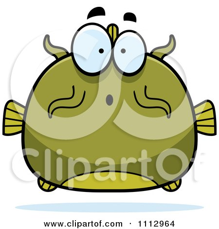 Clipart Surprised Green Catfish - Royalty Free Vector Illustration by Cory Thoman