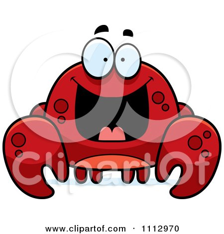 Clipart Excited Crab - Royalty Free Vector Illustration by Cory Thoman